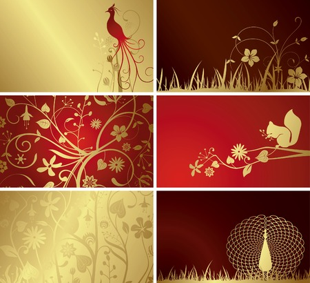 Floral Card Set Stock Vector - 5260413