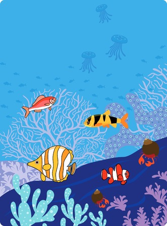 Marine Life Fish Vector