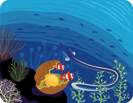 Tropical Ocean Fish Stock Vector - 5307804