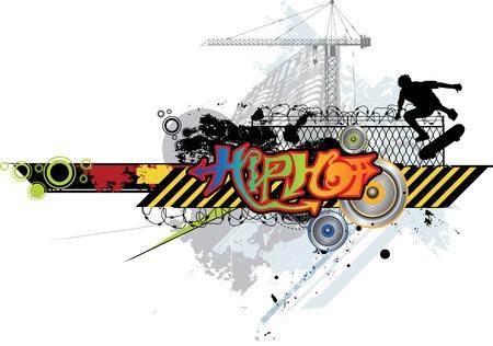 Skateboard Hip Hop Stock Vector - 5358009