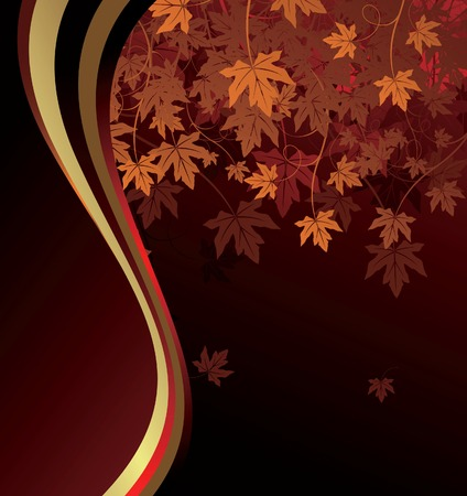 Abstract Maple Leaves Background Vector