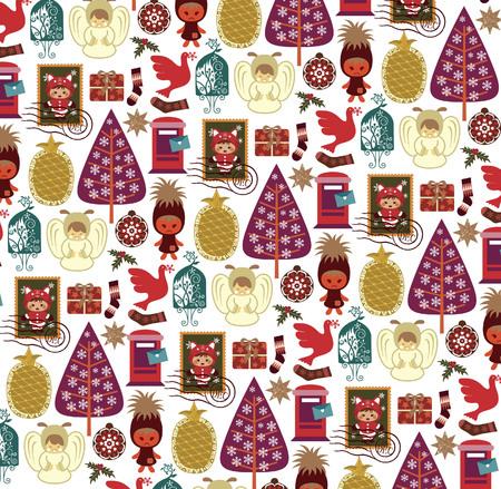 Christmas Design Elements Pattern 2 Vector