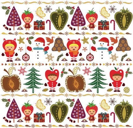 Christmas Design Elements Pattern 3