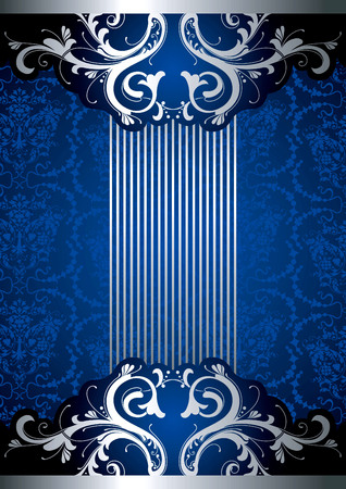 silver background: Blue Floral Background