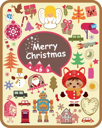 Christmas Ornaments Design Elements Illustration