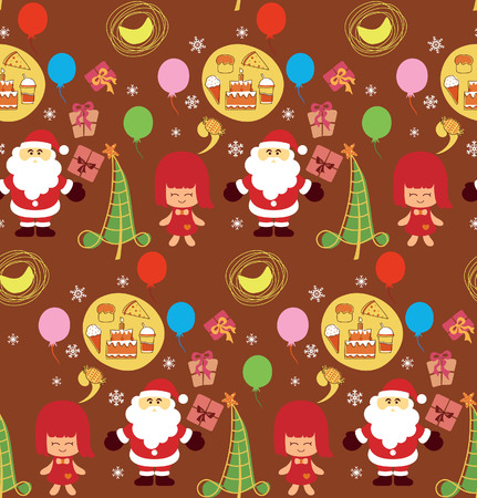 Christmas Party Pattern SEAMLESS Vector