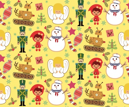 Christmas Toys Pattern SEAMLESS Vector