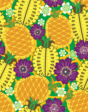 Fruits Vegetables Pineapple Vector