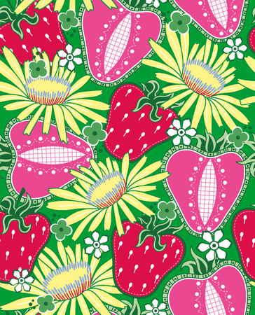 Fruits Vegetables Strawberry Vector
