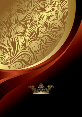 cover: Abstract Curve Background with Crown Illustration