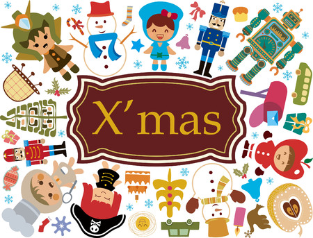 Christmas Toy Gift Elements 3 Vector
