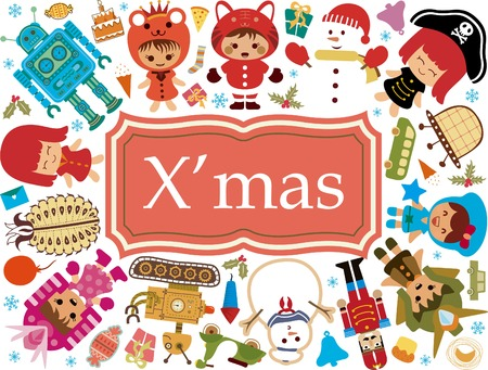 Christmas Toy Gift Elements 1 Vector
