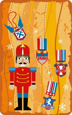 christmas military: Gift Card 4 Illustration