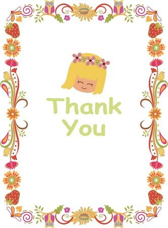 Thank You Card Stock Vector - 6374716