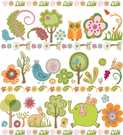 owls: Abstract Floral Design Elements