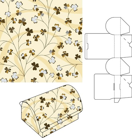 3d gift box folding die cut 5 Stock Vector - 6508933