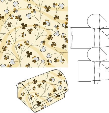 die cut: 3d gift box folding die cut 5