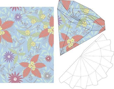 3d gift box folding die cut 1 Vector