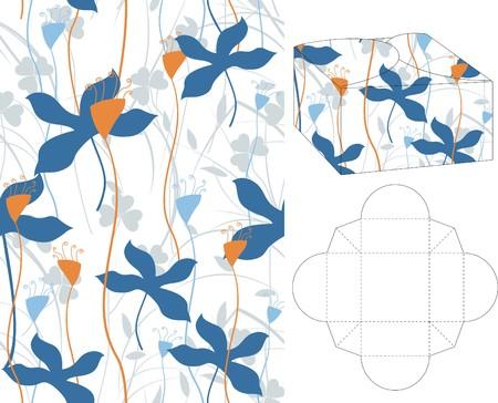 layout: 3d gift box folding 4