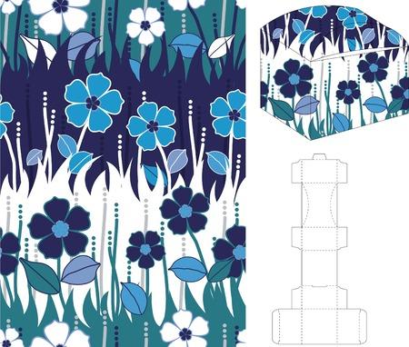 diecut: 3d gift box folding 11 Illustration