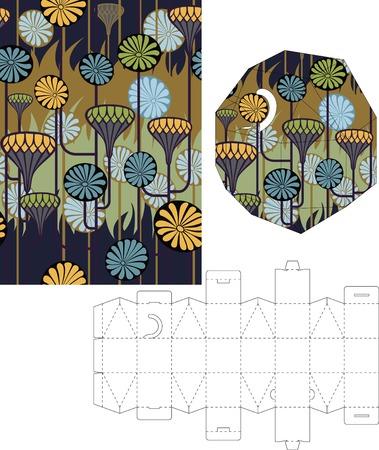 layout: 3d gift box folding 8 Illustration