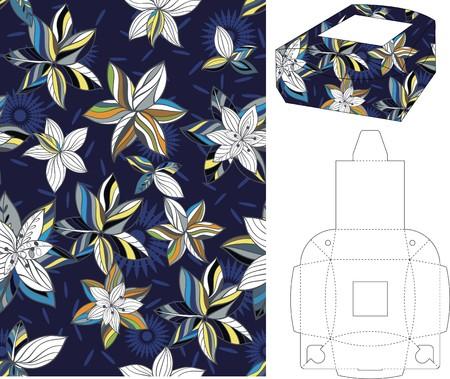 layout: 3d gift box folding 6 Illustration