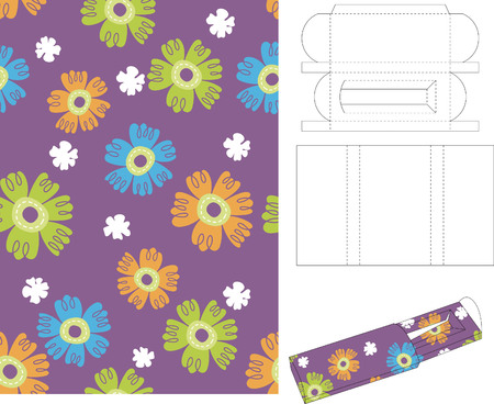 template: 3d Gift Box Folding Template 12
