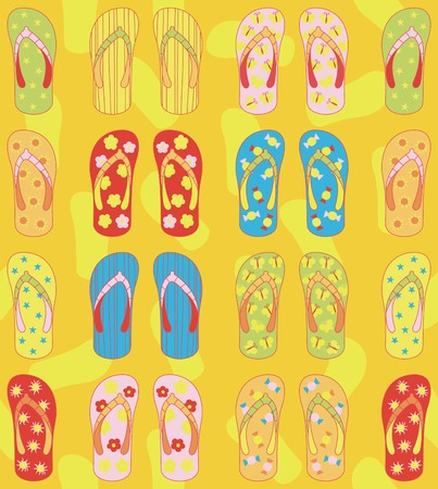 seamless: Seamless Sandals Pattern