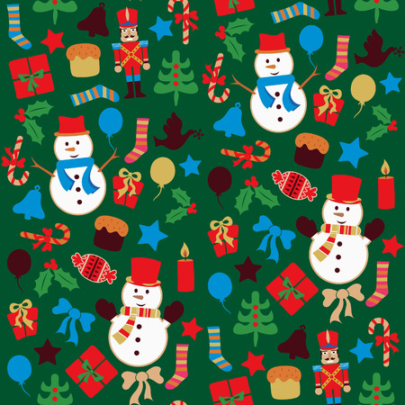 Abstract Christmas Elements Pattern 12 Vector