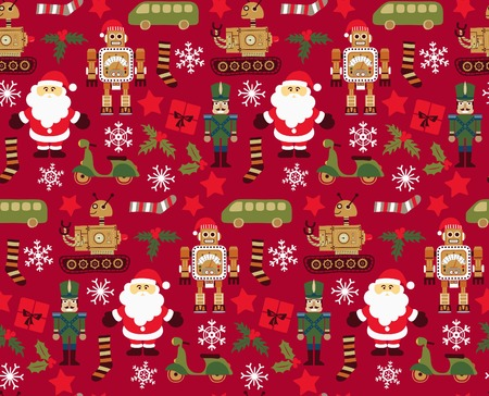 Abstract Christmas Elements Pattern 10 Vector