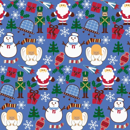 Abstract Christmas Elements Pattern 9 Vector