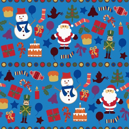 Abstract Christmas Elements Pattern 8 Vector