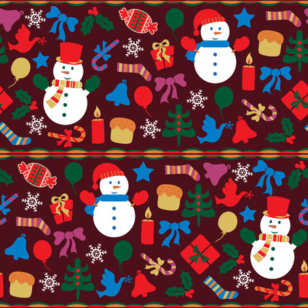 Abstract Christmas Elements Pattern 7 Vector