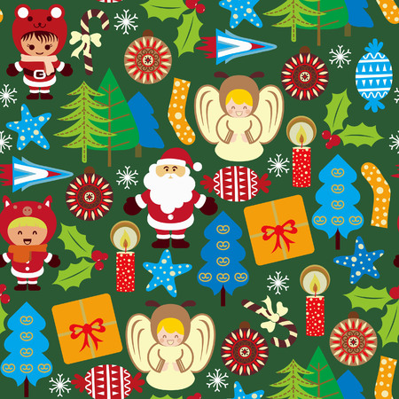 Abstract Christmas Elements Pattern 5 Vector