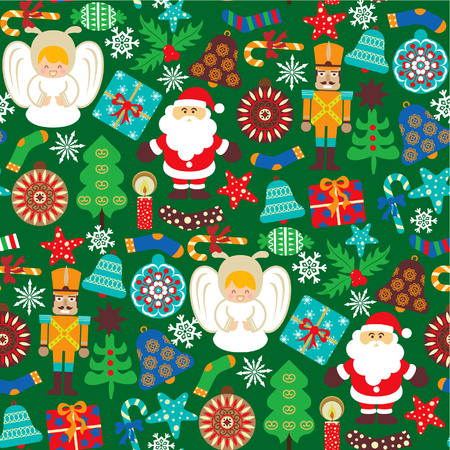 Abstract Christmas Elements Pattern 1 Vector
