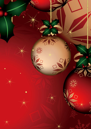 Abstract Red Christmas Ball Background 3 Vector