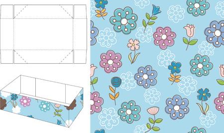 die cut: 3D Floral Gift Box Die Cut 1