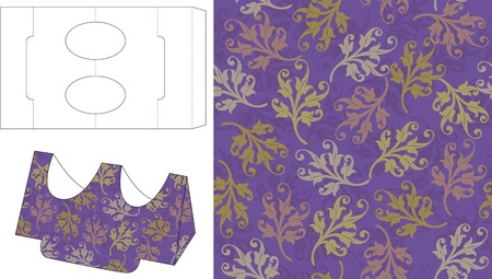 layout: Gift Box Die Cut Template 3 Illustration