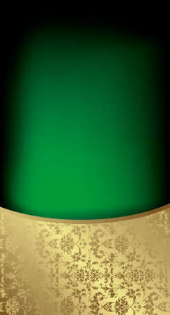 Abstract Green Gold Background Stock Vector - 8767316