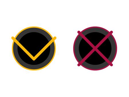 Aktivieren oder deaktivieren Sie x. Bestätigungs- oder Ablehnungssymbol für Apps und Websites.