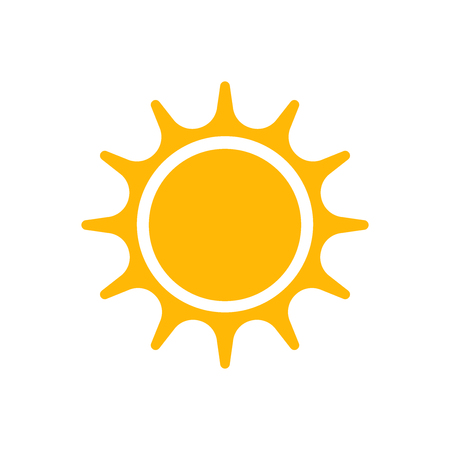 Flat sun icon for apps, public places and web sites. Vector illustration.