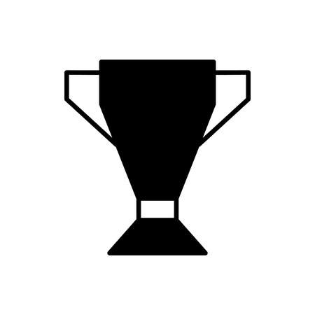 Flat linear design. Cup icon. Award winner. Vector illustration