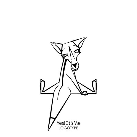 Cartoon character of a forest animal. Funny interesting fox sits and poses turning his head on a white background. Vector illustration. The inhabitant of forests and steppes. Yes! Its me! 向量圖像