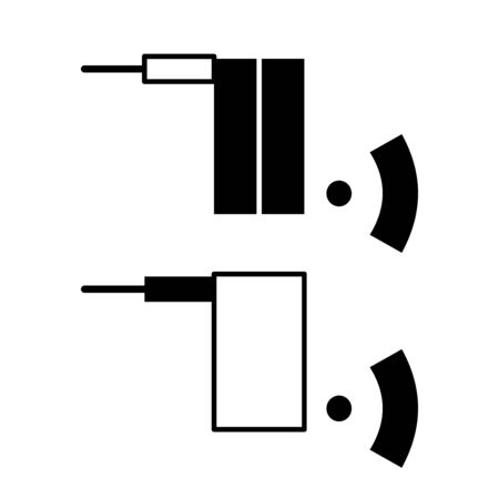 Flat linear design. Icon of an adapter or wifi router for applications, web sites and public use - Vector Ilustrace