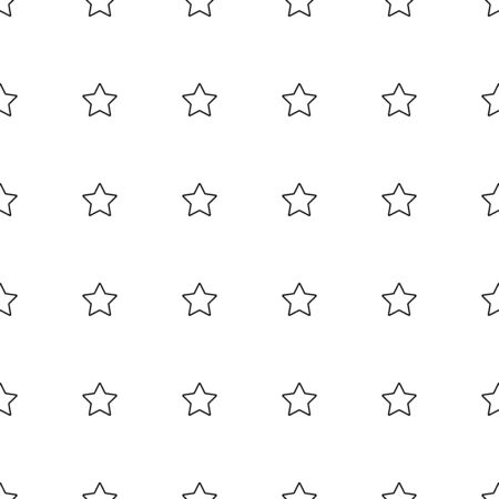 Star seamless pattern. White and yellowretro background. Abstract geometric shape texture. Design template for wallpaper,wrapping, textile. Vector Illustration