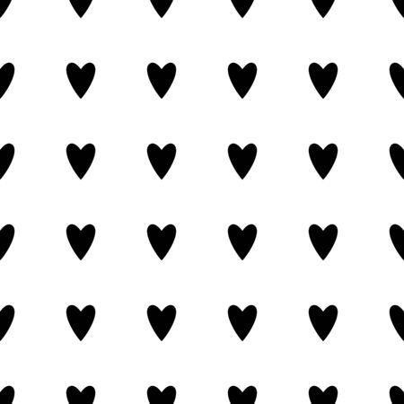 Star seamless pattern. White and black retro background. Abstract geometric shape texture. Design template for wallpaper,wrapping, textile. Vector Illustration Illustration