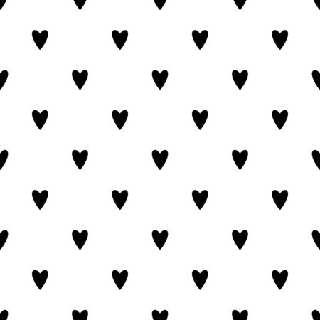 Hearts seamless pattern. White and red retro background. Abstract geometric shape texture. Design template for wallpaper,wrapping, textile. Vector Illustration 写真素材 - 128534545