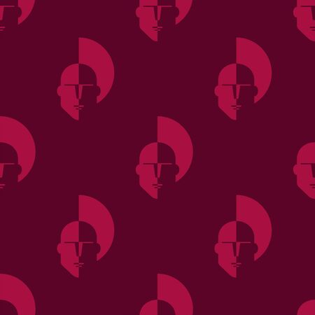 Head man seamless pattern. Background. Abstract geometric shape texture. Design template for wallpapers,wrapping, textile. Vector Illustration  イラスト・ベクター素材