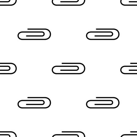 Paper clip seamless pattern. Background. Abstract geometric shape texture. Design template for wallpapers,wrapping, textile. Vector Illustration