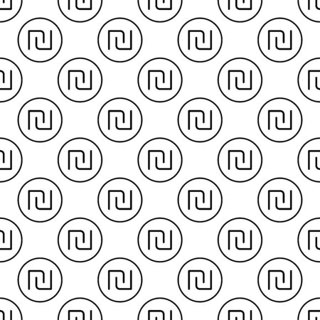 Coins seamless pattern. White and black coin with dollar sign. Abstract geometric shape texture. Design template for wallpaper,wrapping, textile. Vector Illustration 写真素材 - 129000950